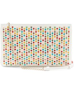 Loubiposh Spike-embellished Leather Clutch