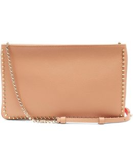 Loubiposh Spike-trimmed Leather Clutch