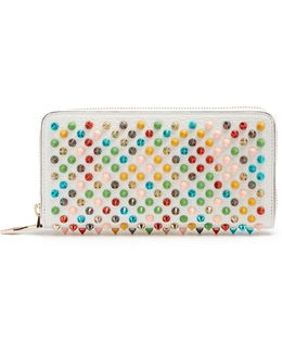 Panettone Spike-embellished Leather Wallet