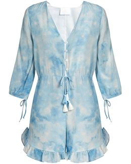 In The Stars Silk Playsuit