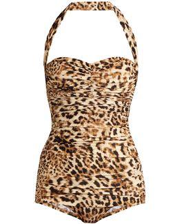 Bill Mio Leopard-print Halterneck Swimsuit