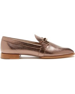 T-bar Leather Loafers