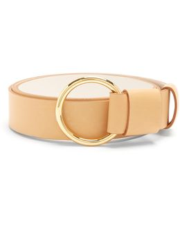 Ring-buckle Leather Belt