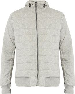 Quilted Cotton-blend Hooded Jacket