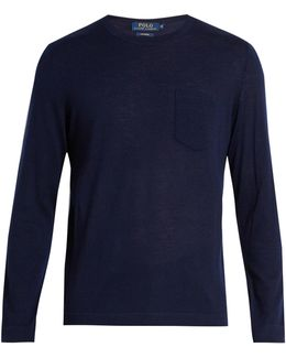 Long-sleeved Cashmere T-shirt