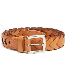 Braided-leather Belt