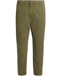 Paris Stretch-cotton Trousers