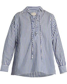 Shiloh Striped Cotton-poplin Shirt