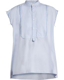 Elise Frayed Edge Cotton Shirt
