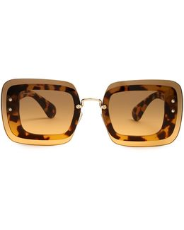 Reveal Rectangle-frame Sunglasses