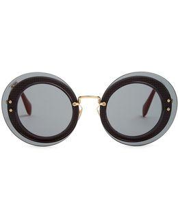 Reveal Round-frame Sunglasses