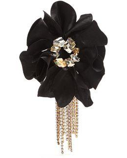 Crystal-embellished Flower Bracelet