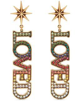 Loved Crystal-embellished Earrings