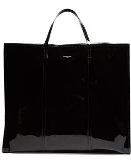 Bazar Extra-large Patent-leather Tote