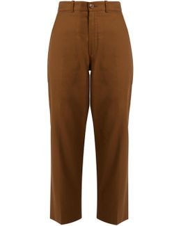 Linen And Cotton-blend Trousers