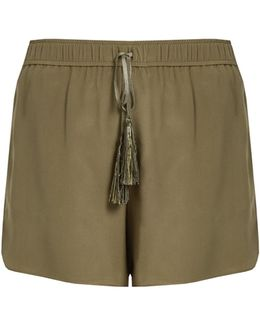 Paxi Silk-crepe Shorts