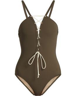Patmos Deep V-neck Swimsuit