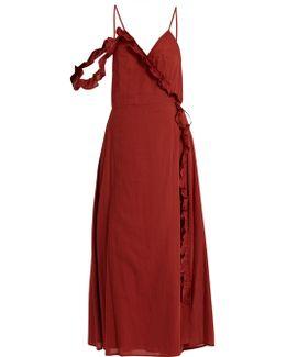 Waterfall Cotton Wrap Dress