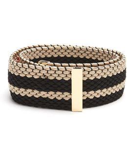 Striped Woven-elastic Belt