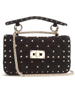 Rockstud Spike Small Quilted-suede Shoulder Bag