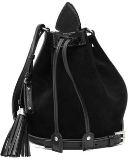Anja Tassel Suede And Leather Bucket Bag