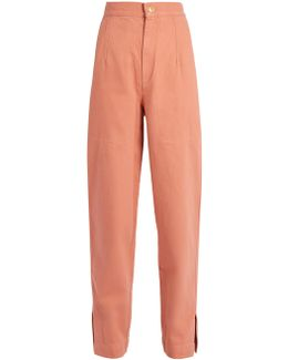 Elwood High-rise Denim Peg-leg Trousers