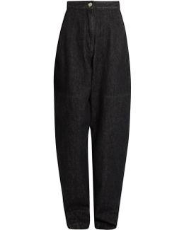 Elwood High-rise Peg-leg Denim Trousers