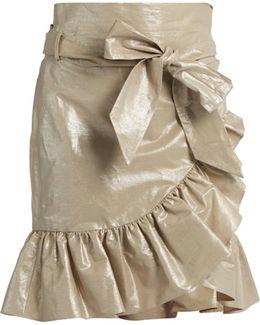 Liliko Ruffled Wrap Skirt