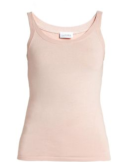 Scoop-neck Stretch-silk Pyjama Tank Top