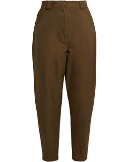 Leonard Cotton-blend High-rise Tapered Trousers