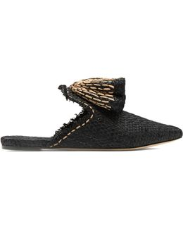 Sanguarina Raffia Slipper Shoes
