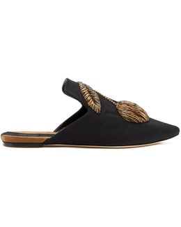 Ciliegia Embroidered Canvas Slipper Shoes