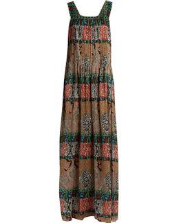 Paisley-print Silk-satin Gown