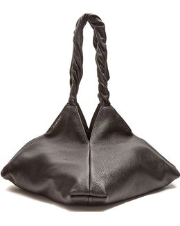 Pyramid Leather Tote