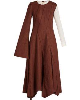 Asymmetric Long-sleeved Dress