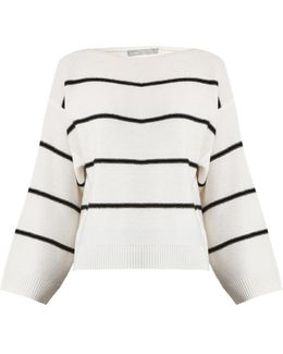 Oversized Striped Cashmere Sweater
