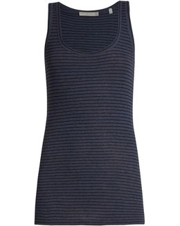 Striped Pima-cotton Jersey Tank Top