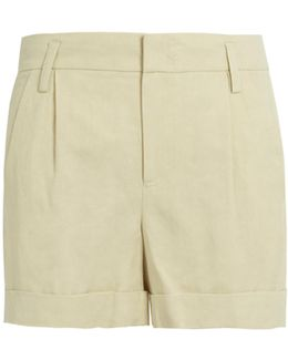 Turn-up Cuffs Linen-blend Shorts