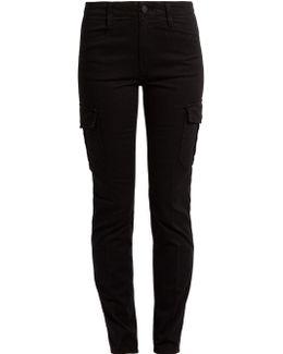 Slim-leg Cotton-blend Cargo Trousers