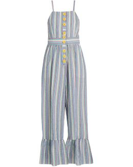 Striped Seersucker Jumpsuit