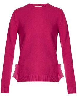 Tie-side Cashmere Sweater
