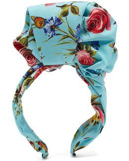 Printed Silk Charmeuse Headband