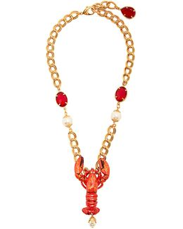 Lobster Crystal-embellished Necklace