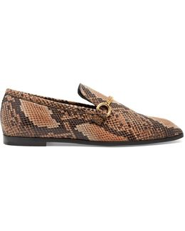 Python-effect Faux-leather Loafers