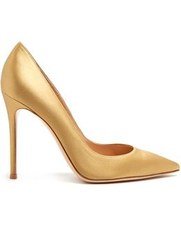 100mm Point-toe Satin Pumps