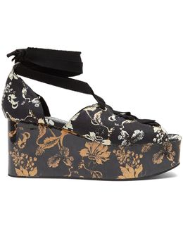 Wren Vanguard Midnight-print Platform Wedges