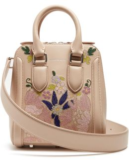 Heroine Embroidered Small Leather Cross-body Bag