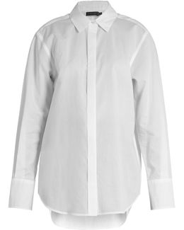 Luka Point-collar Cotton Shirt