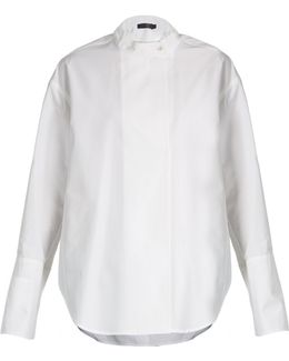 Larabee Granddad-collar Cotton Shirt