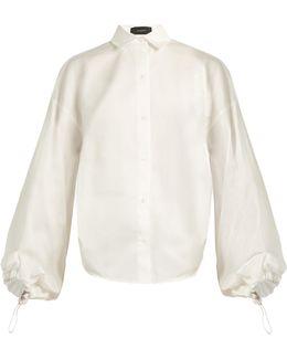 Sini Drawstring-back Cotton-sateen Shirt